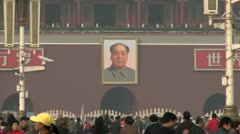 Tiananmen Square 9 - stock footage