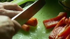 Chopping veggies Stock Footage