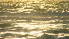 Sun on waves Stock Footage