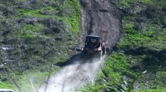4x4 challenge on steep hill Stock Footage