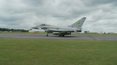 Eurofighter Typhoon Jet Aircraft Taxiing Stock Footage