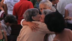 Old Women Hugging(HD)c Stock Footage