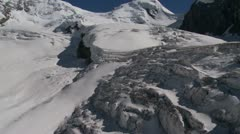 Melting Glaciers In Switzerland Aerial Footage - stock footage