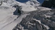 Melting Glaciers In Switzerland Aerial Footage Stock Footage