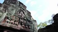 Stock Video Footage of Angkor Wat & Surrounding Temple Complex - Detail Angkorian lintel