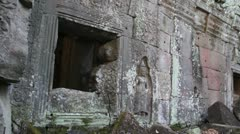 Stock Video Footage of Ancient Temple (Angkor) - 270 degree pan across ruined temple
