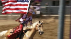 Stock Video Footage of American Cowgirl at the Rodeo 2