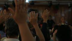 Hands Raised(HD)c Stock Footage
