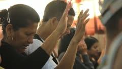 People Praying(HD)c Stock Footage