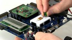 Creating circuit prototype - stock footage