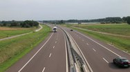 Stock Video Footage of Dual Carriageway in Poland