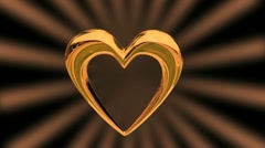 Gold Heart-2 Stock Footage