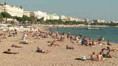 Cannes Beach Stock Footage