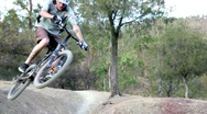 Biking adventure Jump Stock Footage