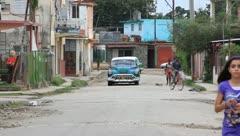 Cuban side road Stock Footage