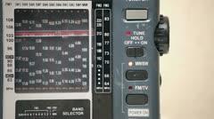Radio Receiver Tuning Stock Footage