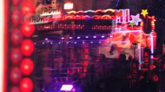 Abstract fairground lights Stock Footage