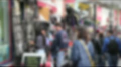 Busy london street - camden town, blurred Stock Footage