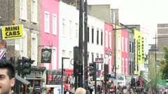 Busy london street -camden town Stock Footage