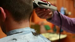 Hairdresser for man - stock footage