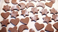 Gingerbread Biscuits Stock Footage