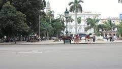 Cuban taxi Stock Footage