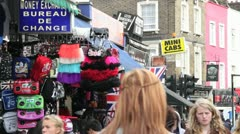 Busy london street - camden town Stock Footage