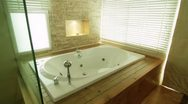 Stock Video Footage of Contemporary Bath