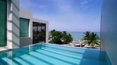 Luxury Villa with Private Swimming Pool - stock footage