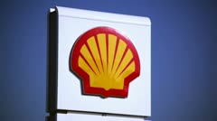 Shell Gas Station Sign Stock Footage