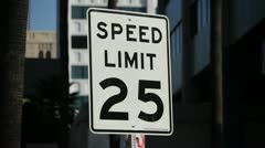 Speed Limit Sign 01 HD Stock Footage