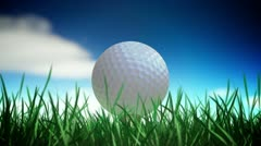 Golf ball loop - stock footage