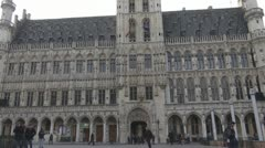 People walking near to City Hall, Brussel, Belgium Stock Footage