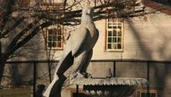 Cement bird - stock footage