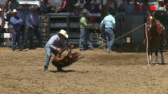 Calf Roping 1 - stock footage