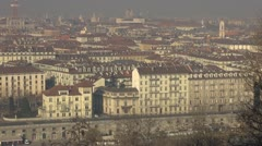Aerial view of Turin, Italy Stock Footage