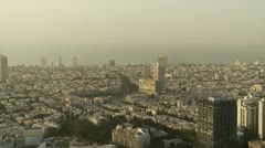 Tel Aviv day view cityhall zoom - stock footage