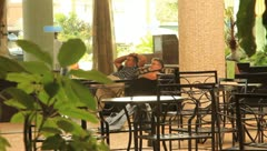 Men Relaxing at Resort in Cuba(HD)c Stock Footage