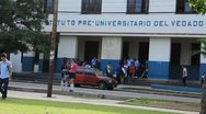 Cuban High School in Cuban City in Cuba(HD)c Stock Footage
