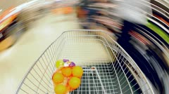 Supermarket Shopping Time Lapse - stock footage
