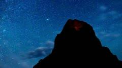 Time Lapse of Night Sky Stock Footage