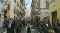 Glidecam Christmas shopping (1) Stock Footage