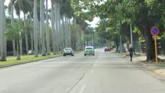 Road in Cuba(HD)c Stock Footage