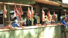 Meat Marketplace in Cuba(HD)c Stock Footage