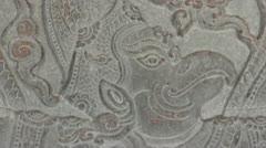 Ancient Temple (Angkor) - Detail Bas-relief, ECU  garuda Stock Footage