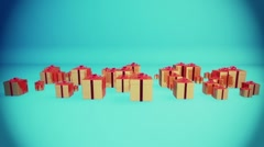 Gift Boxes  Holiday Background Stock Footage