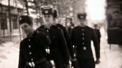 Soldiers close-up - Vintage Super8 Film Stock Footage