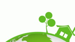 Go green Earth Stock Footage