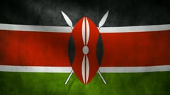 Kenya flag. Stock Footage