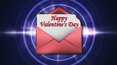 Valentine's Day in Letter 3 - HD1080 Stock Footage